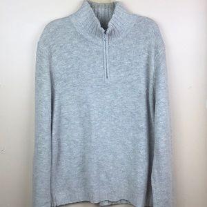 Men's Express 1/2 zip pullover wool sweater Sz XL